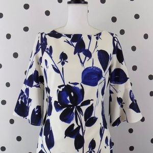 Vince Camuto Floral Bell Sleeve Dress Size 2